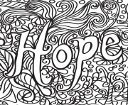 Printable hope coloring pages