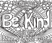 Printable be kind coloring pages