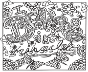 Printable i believe in miracles coloring pages