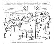 Printable find hard hearts so Nephi can be loosed from the cords coloring pages