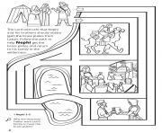 Printable Help Nephi get the brass plates coloring pages