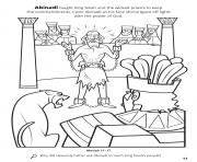Printable Abinadi taught King Noah and the wicked priests to keep the commandments coloring pages