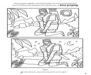 Printable Enos prayed mightily and God forgave his sins and blessed him coloring pages