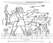 Printable Many Nephites didnt want to listen to Samuel the Lamanite speak and prophesy about Christs birth coloring pages