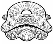 Printable star wars mandala  coloring pages
