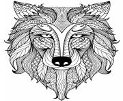 Printable mandala fox  coloring pages