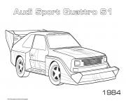 Printable Audi Sport Quattro S1 1984 coloring pages