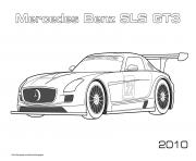 Printable Mercedes Benz Sls Gt3 2010 coloring pages