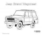 Printable Jeep Grand Wagoneer 1989 coloring pages