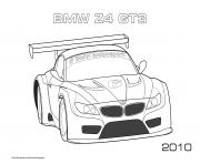 Printable Bmw Z4 Gt3 2010 coloring pages