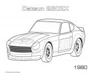 Printable Datsun 280zx 1980 coloring pages