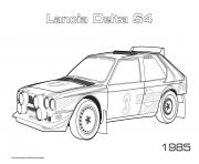 Printable Lancia Delta S4 1985 coloring pages