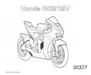 Printable Moto Honda Rc212v 2007 coloring pages