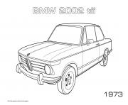 Printable Bmw 2002 Tii 1973 coloring pages