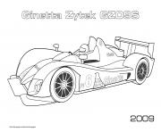 Printable F1 Ginetta Zytek Gz09s 2009 coloring pages