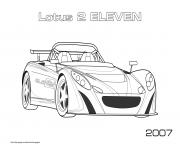 Printable Lotus 2 Eleven 2007 coloring pages