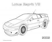 Printable Lotus Esprit V8 2002 coloring pages