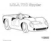 Printable Lola T70 Spyder 1966 coloring pages