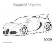 Printable Bugatti Veyron 2005 coloring pages