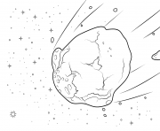 Printable asteroid coloring pages