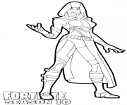 Printable Glow Fortnite season 10 coloring pages