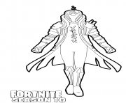 Printable Infinity Fortnite season 10 coloring pages