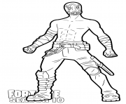 Printable Psycho Bandit Fortnite season 10 coloring pages