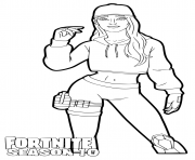 Printable Ruby Fortnite season 10 coloring pages