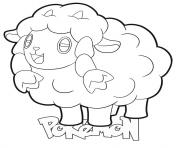 Printable Wooloo Pokemon coloring pages