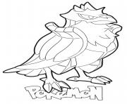 Printable Corviknight Pokemon coloring pages
