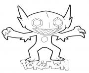 Printable Sableye Pokemon coloring pages