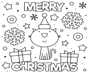 cute cat wish merry christmas