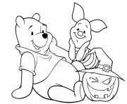 Printable Winnie the Pooh Halloween coloring pages