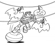 Printable buzz lightyear halloween coloring pages