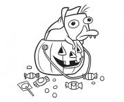 Disney Halloween Coloring Pages To Print Disney Halloween Printable