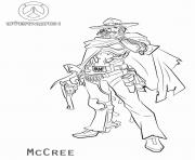 Printable overwatch McCree coloring pages