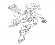 Printable overwatch Lucio Sonic Amplifier coloring pages