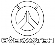 Printable overwatch Logo coloring pages