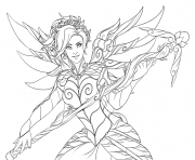 Printable overwatch Tracer Lena Oxton coloring pages