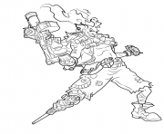 Printable overwatch Junkrat coloring pages