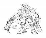 Printable overwatch Reaper coloring pages