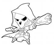 Printable Overwatch Reaper Cute coloring pages