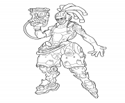 Printable overwatch Lucio coloring pages