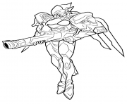 Printable overwatch sombra coloring pages