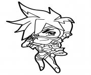 Printable Overwatch Tracer Cute Spray coloring pages