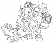 Printable overwatch Reinhardt coloring pages