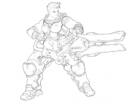 Printable overwatch Zarya coloring pages