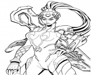 Printable overwatch Widowmaker coloring pages
