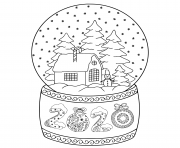 2020 toy glass snow globe house