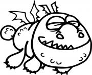 Printable Baby Gronckle Dragon coloring pages